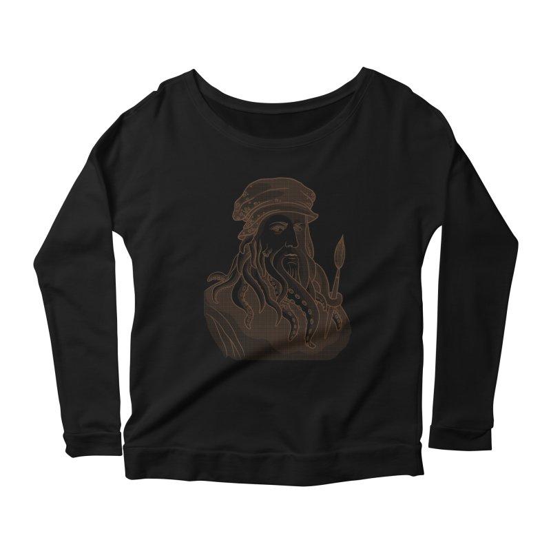 Leonardo da Vyjones Women's Scoop Neck Longsleeve T-Shirt by Crazy Pangolin's Artist Shop