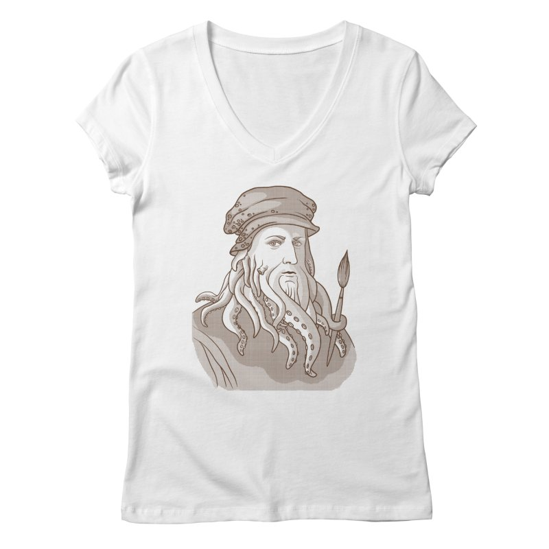 Leonardo da Vyjones Women's Regular V-Neck by Crazy Pangolin's Artist Shop