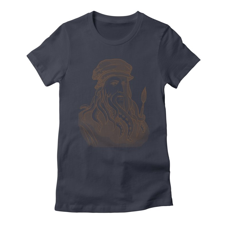 Leonardo da Vyjones Women's Fitted T-Shirt by Crazy Pangolin's Artist Shop