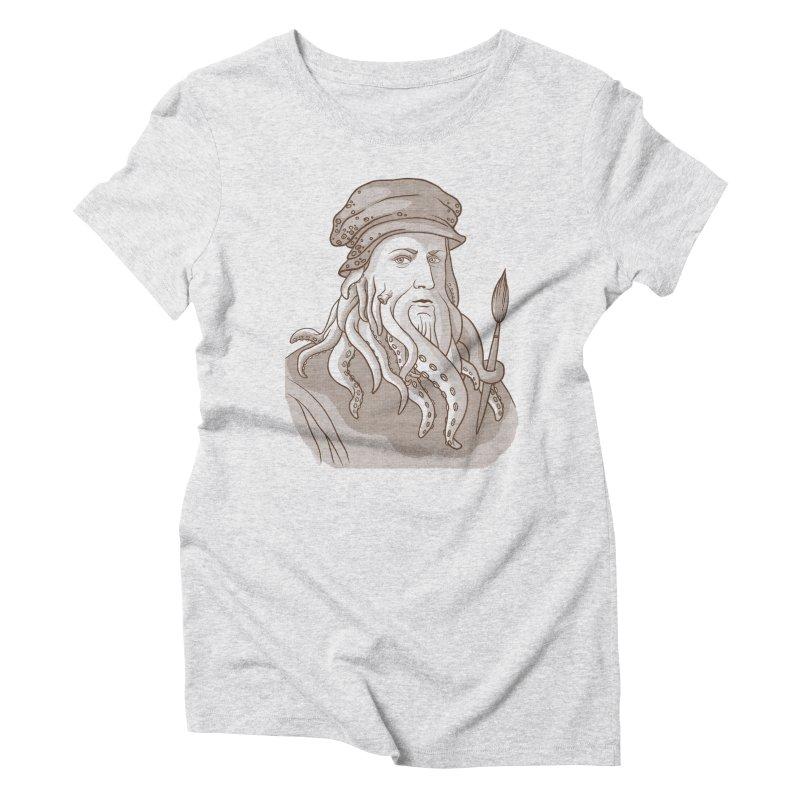 Leonardo da Vyjones Women's Triblend T-Shirt by Crazy Pangolin's Artist Shop
