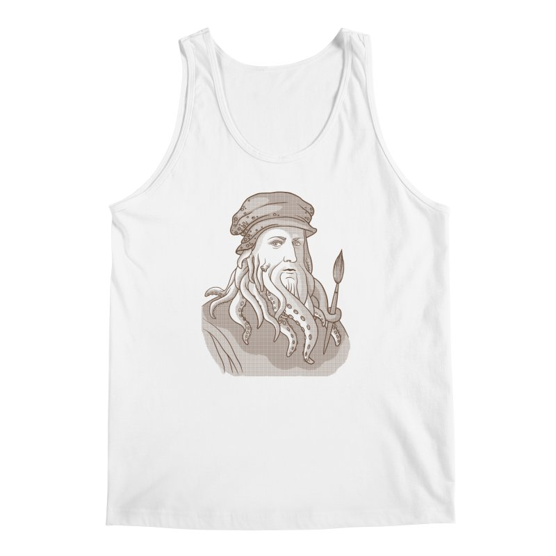 Leonardo da Vyjones Men's Regular Tank by Crazy Pangolin's Artist Shop