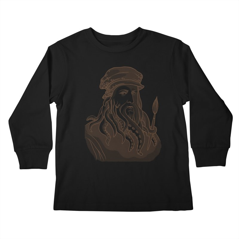 Leonardo da Vyjones Kids Longsleeve T-Shirt by Crazy Pangolin's Artist Shop