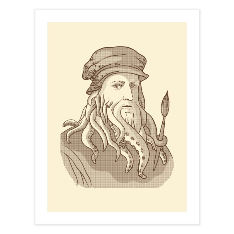 Leonardo da Vyjones Home Fine Art Print by Crazy Pangolin's Artist Shop