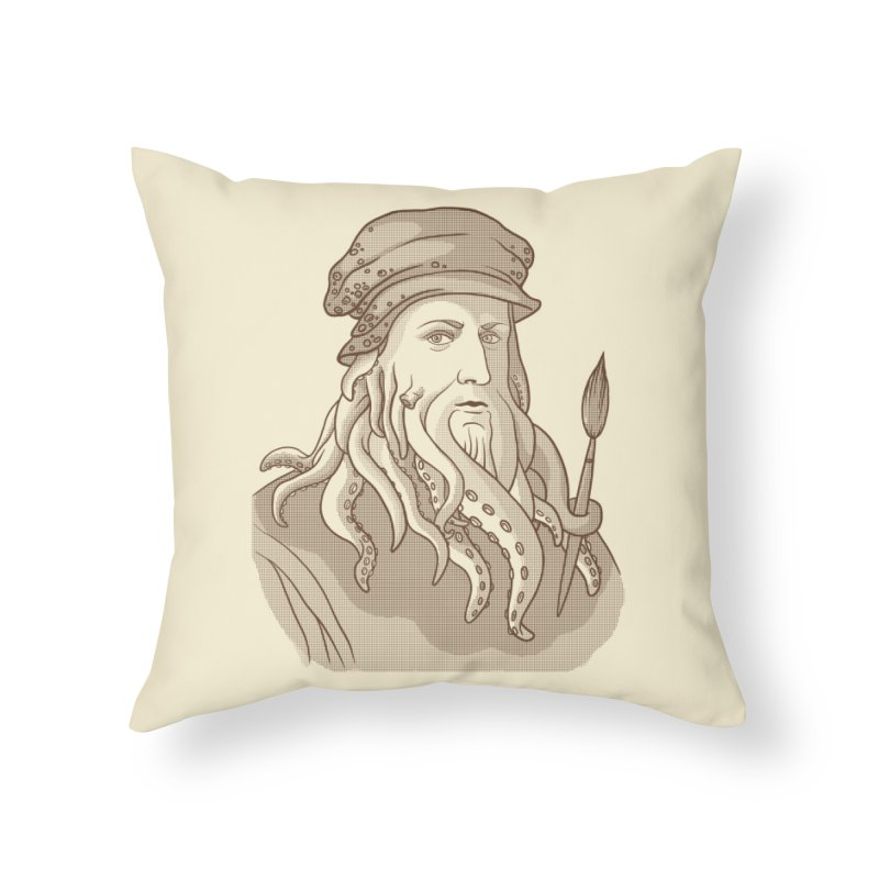 Leonardo da Vyjones Home Throw Pillow by Crazy Pangolin's Artist Shop