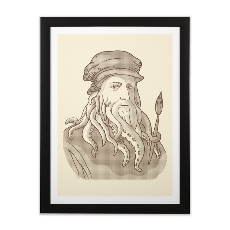 Leonardo da Vyjones Home Framed Fine Art Print by Crazy Pangolin's Artist Shop