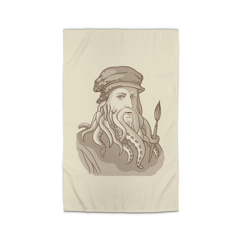 Leonardo da Vyjones Home Rug by Crazy Pangolin's Artist Shop