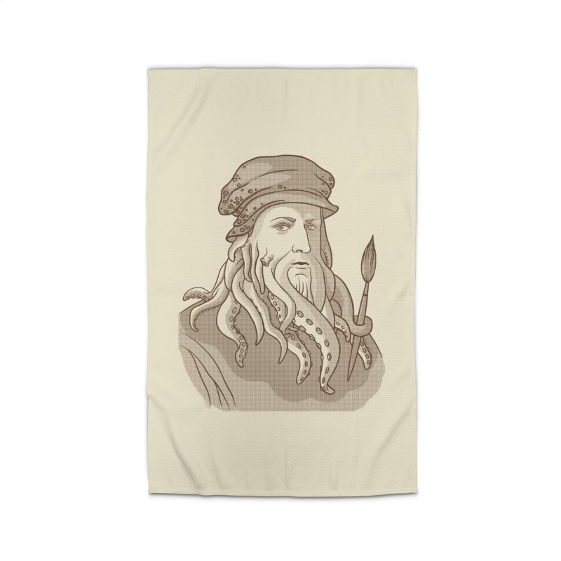 Leonardo da Vyjones Home Rug by Crazy Pangolin's Artist Shop