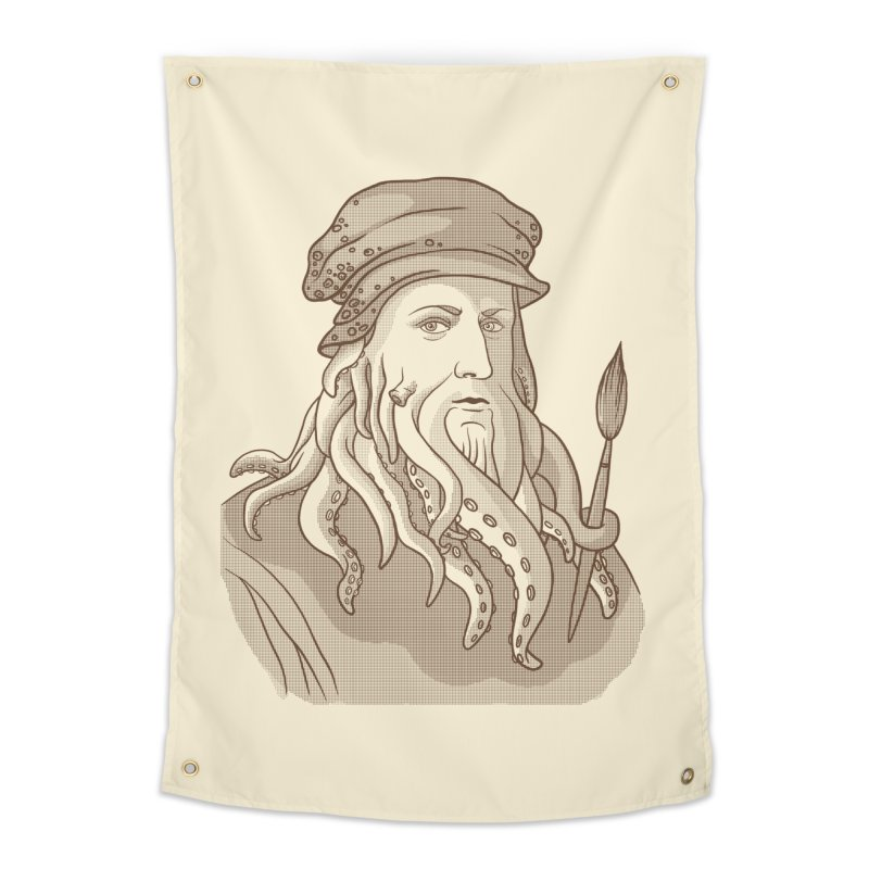 Leonardo da Vyjones Home Tapestry by Crazy Pangolin's Artist Shop