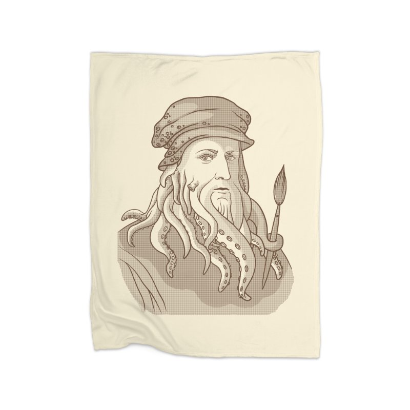 Leonardo da Vyjones Home Blanket by Crazy Pangolin's Artist Shop