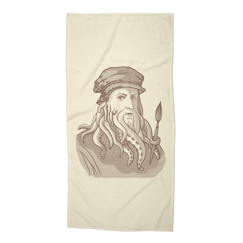 Leonardo da Vyjones Accessories Beach Towel by Crazy Pangolin's Artist Shop