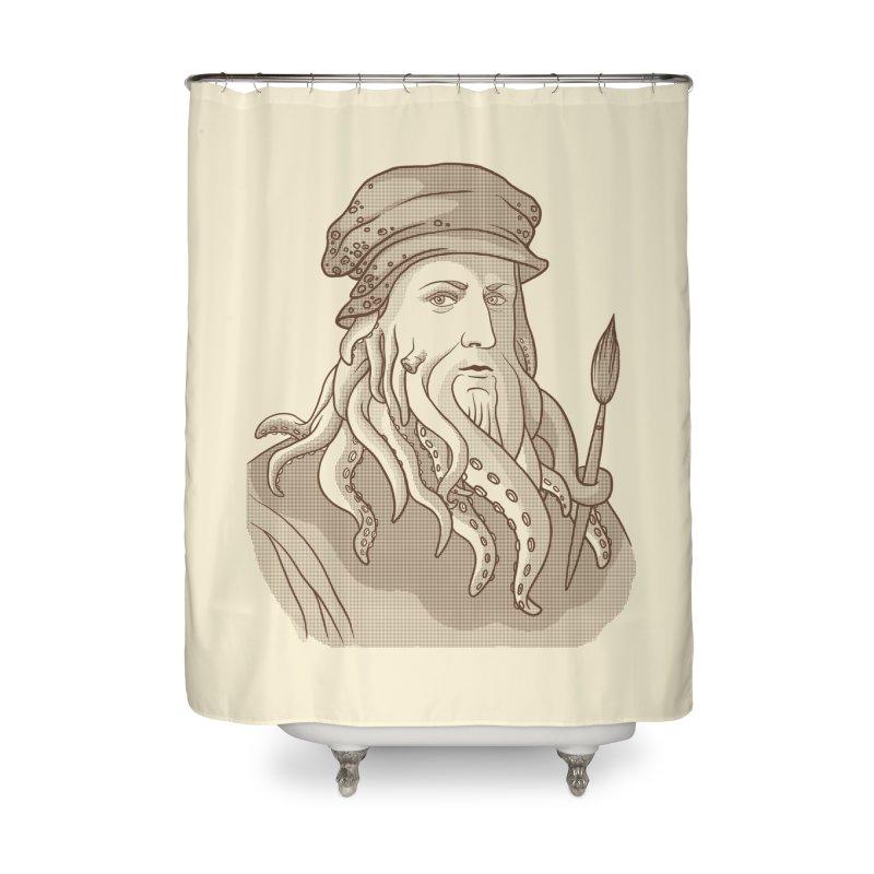 Leonardo da Vyjones Home Shower Curtain by Crazy Pangolin's Artist Shop