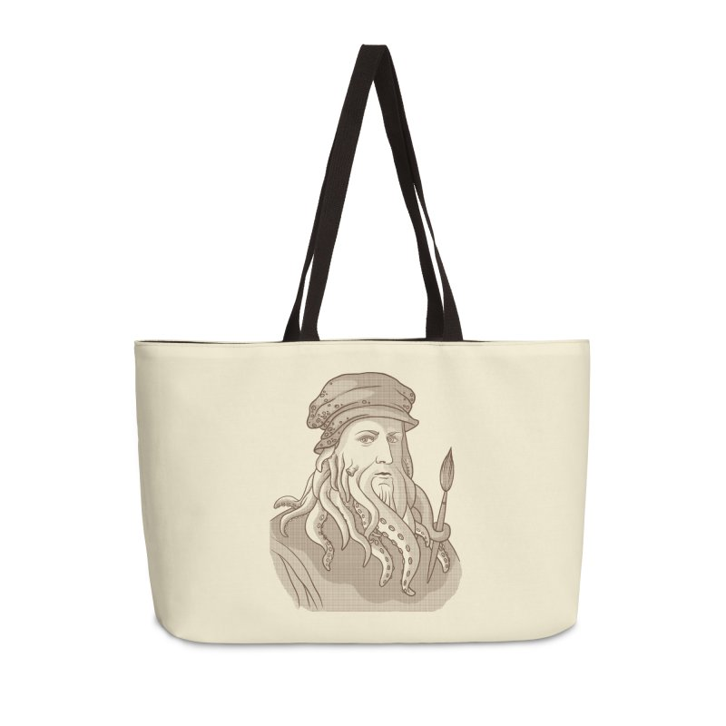 Leonardo da Vyjones Accessories Weekender Bag Bag by Crazy Pangolin's Artist Shop