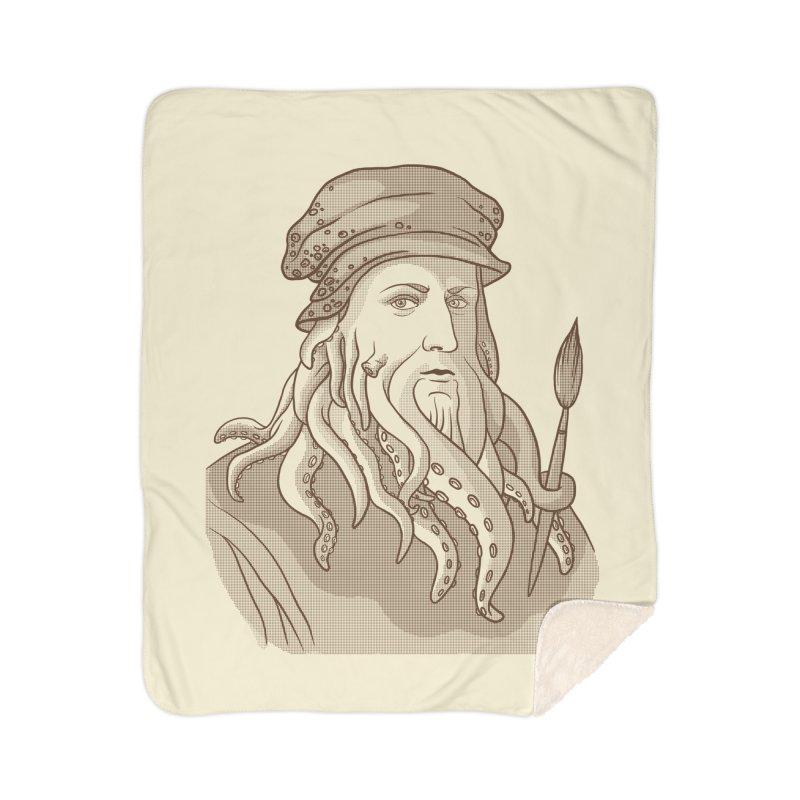 Leonardo da Vyjones Home Sherpa Blanket Blanket by Crazy Pangolin's Artist Shop