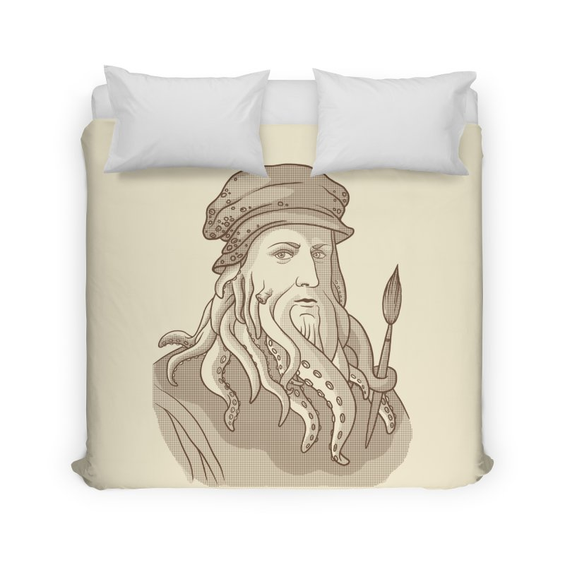 Leonardo da Vyjones Home Duvet by Crazy Pangolin's Artist Shop