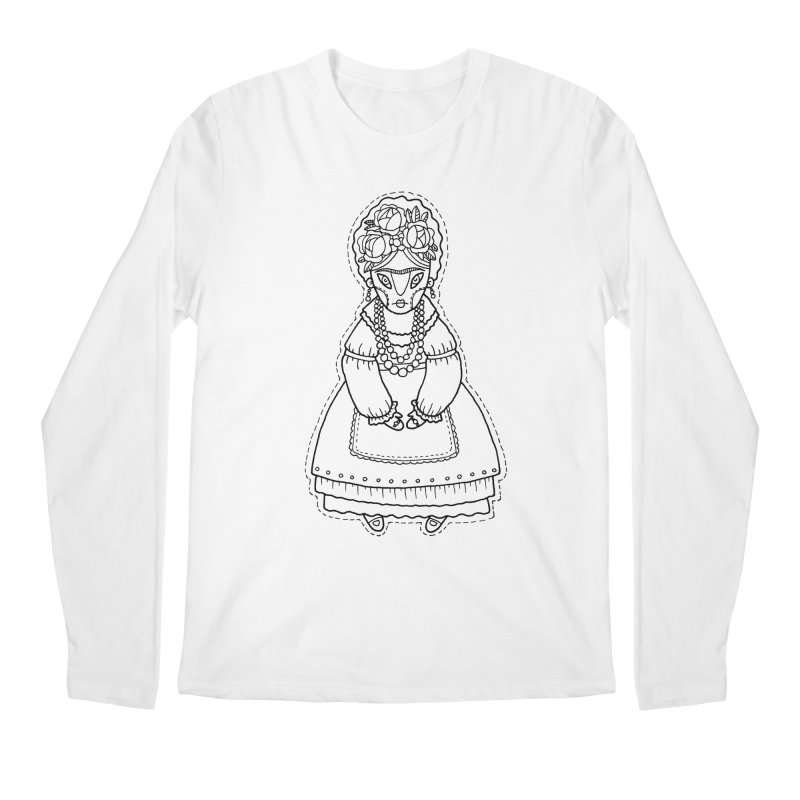 Frida Kahlo Men's Longsleeve T-Shirt by Crazy Pangolin's Artist Shop