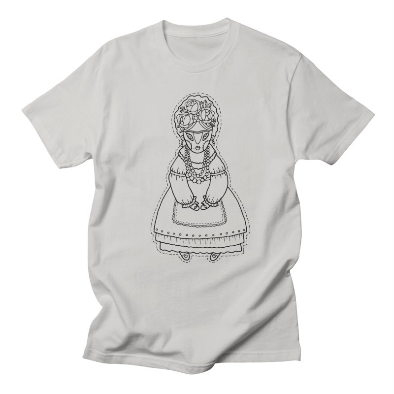 Frida Kahlo in Men's Regular T-Shirt Stone by Crazy Pangolin's Artist Shop