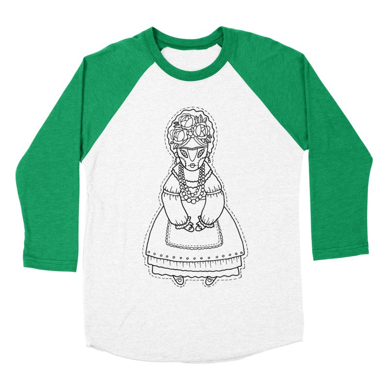 Frida Kahlo Men's Baseball Triblend Longsleeve T-Shirt by Crazy Pangolin's Artist Shop