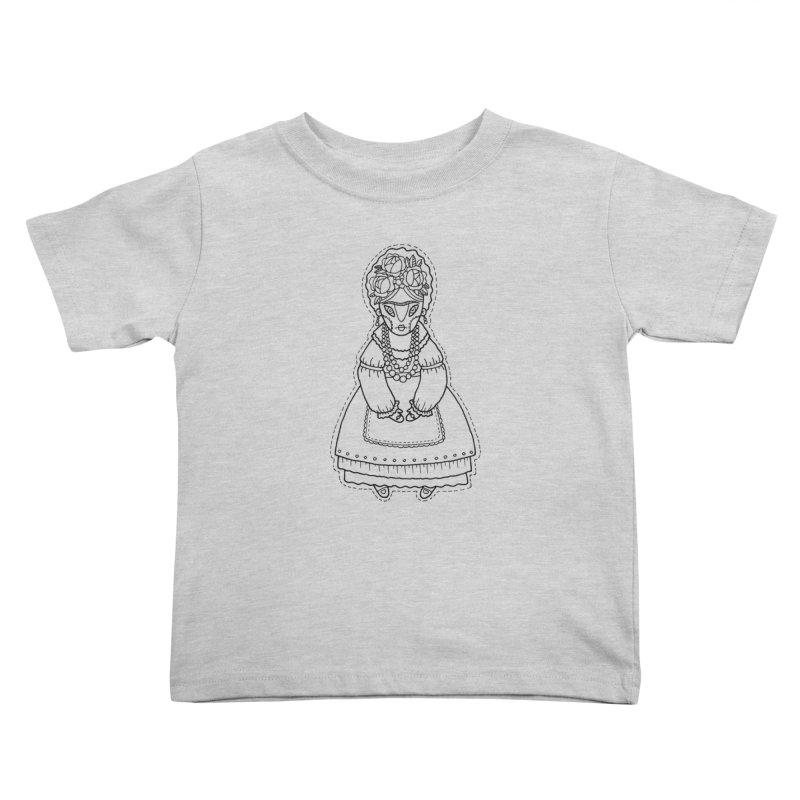 Frida Kahlo Kids Toddler T-Shirt by Crazy Pangolin's Artist Shop