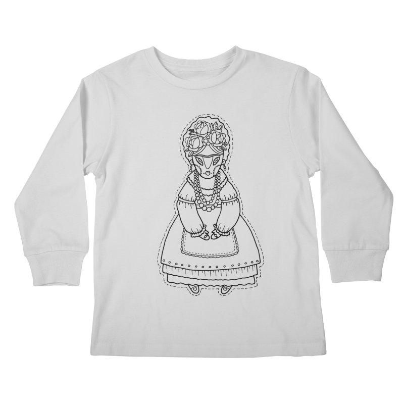 Frida Kahlo Kids Longsleeve T-Shirt by Crazy Pangolin's Artist Shop