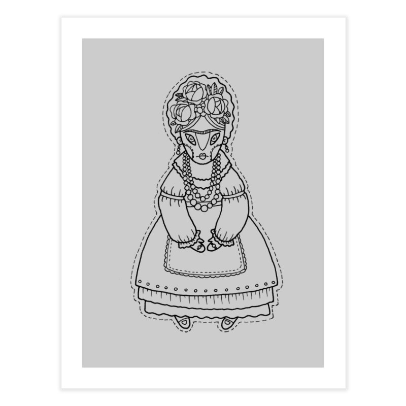 Frida Kahlo Home Fine Art Print by Crazy Pangolin's Artist Shop
