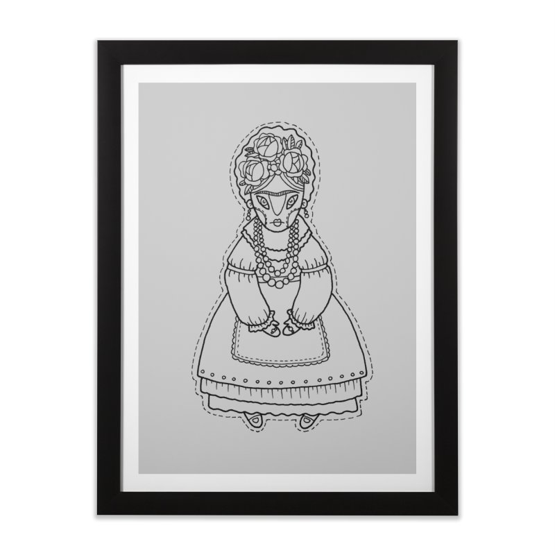 Frida Kahlo Home Framed Fine Art Print by Crazy Pangolin's Artist Shop