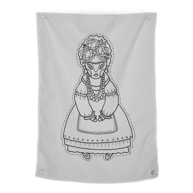 Frida Kahlo Home Tapestry by Crazy Pangolin's Artist Shop