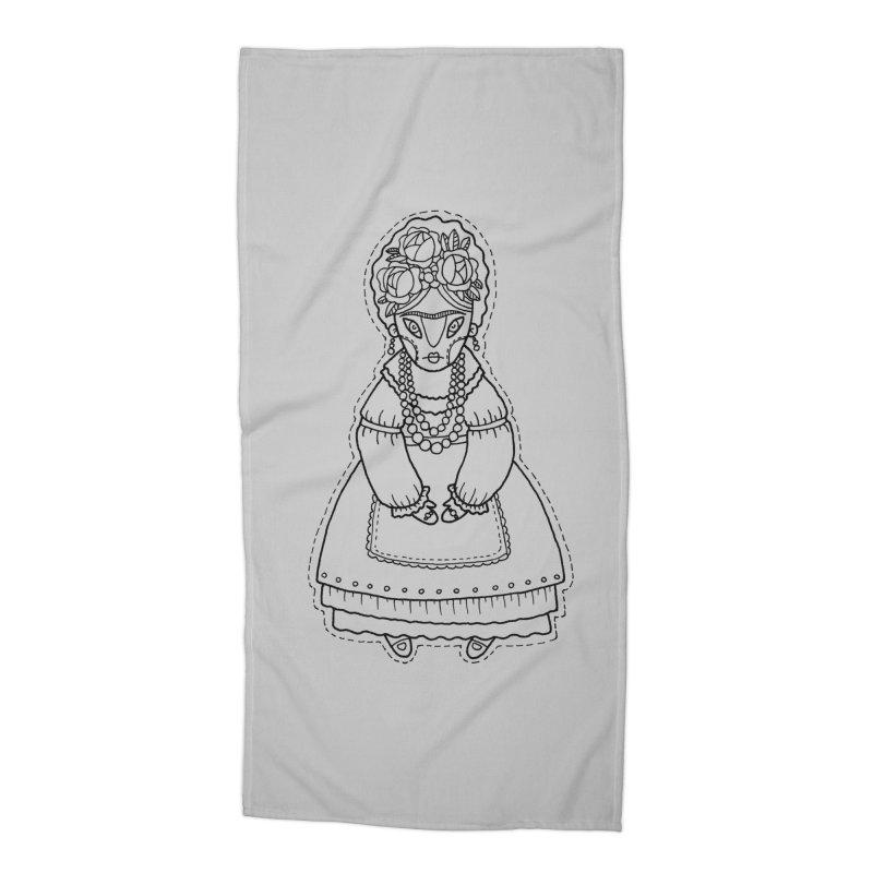 Frida Kahlo Accessories Beach Towel by Crazy Pangolin's Artist Shop