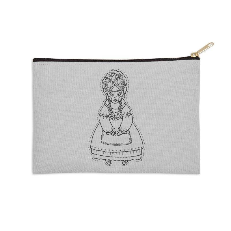 Frida Kahlo Accessories Zip Pouch by Crazy Pangolin's Artist Shop
