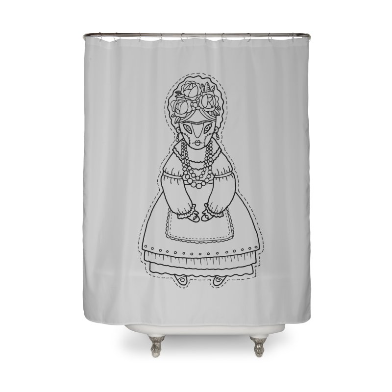 Frida Kahlo Home Shower Curtain by Crazy Pangolin's Artist Shop