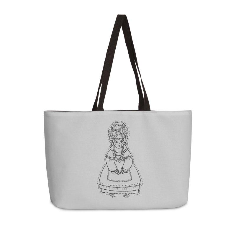 Frida Kahlo Accessories Weekender Bag Bag by Crazy Pangolin's Artist Shop