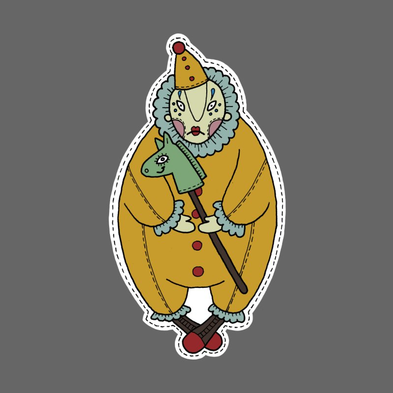 Clown Men's Pullover Hoody by Crazy Pangolin's Artist Shop