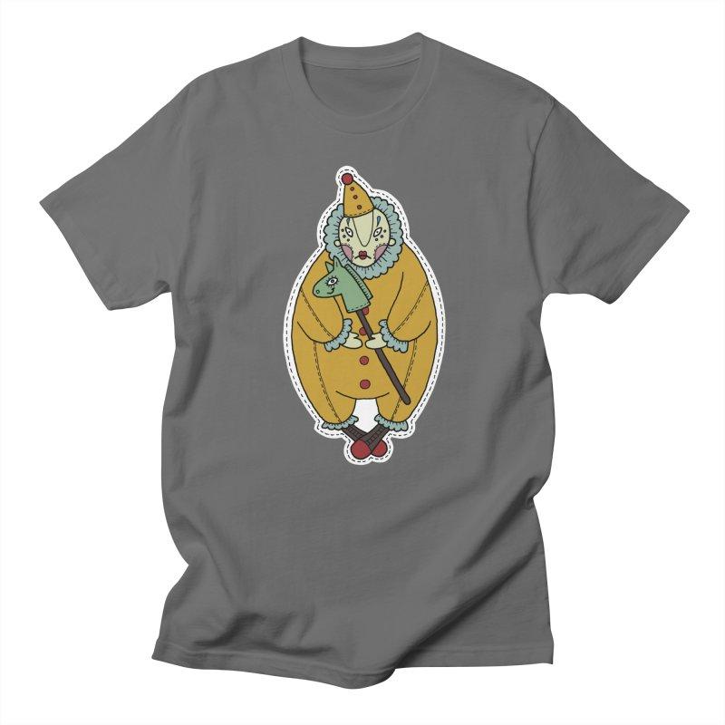 Clown Men's T-Shirt by Crazy Pangolin's Artist Shop