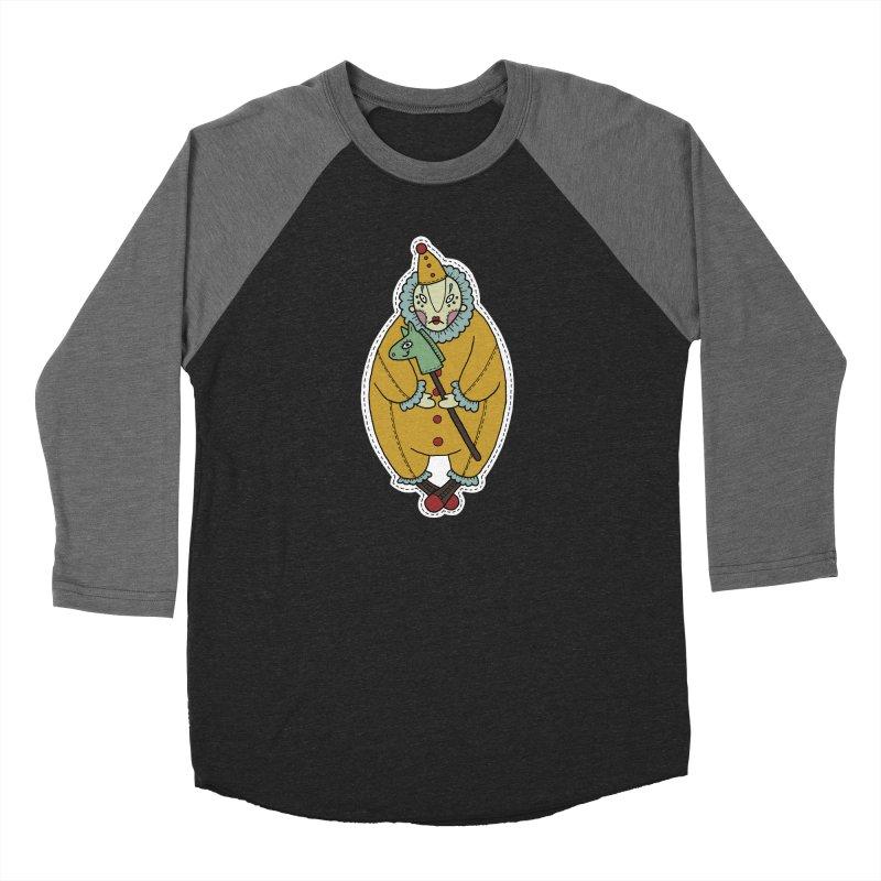 Clown Women's Baseball Triblend Longsleeve T-Shirt by Crazy Pangolin's Artist Shop
