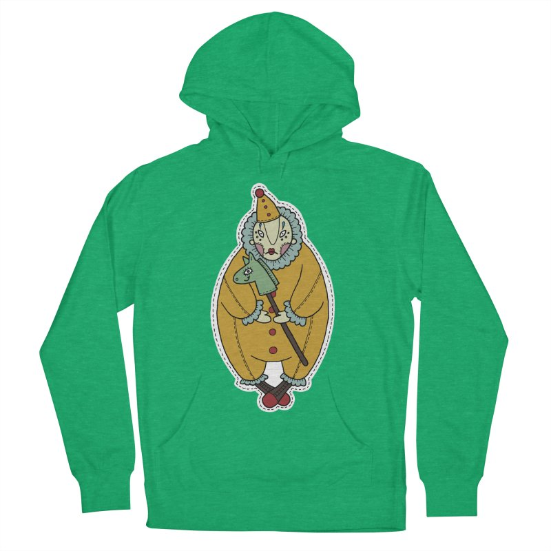 Clown Women's French Terry Pullover Hoody by Crazy Pangolin's Artist Shop
