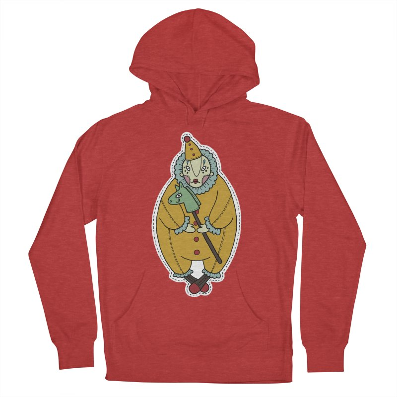 Clown Men's French Terry Pullover Hoody by Crazy Pangolin's Artist Shop