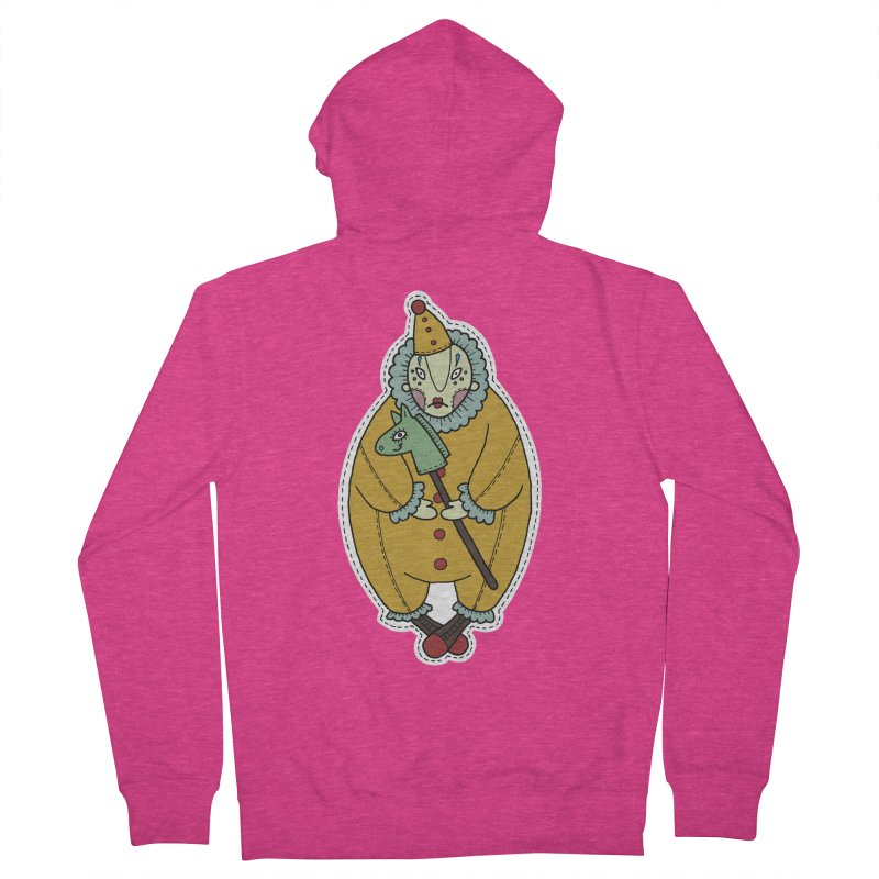 Clown Women's French Terry Zip-Up Hoody by Crazy Pangolin's Artist Shop