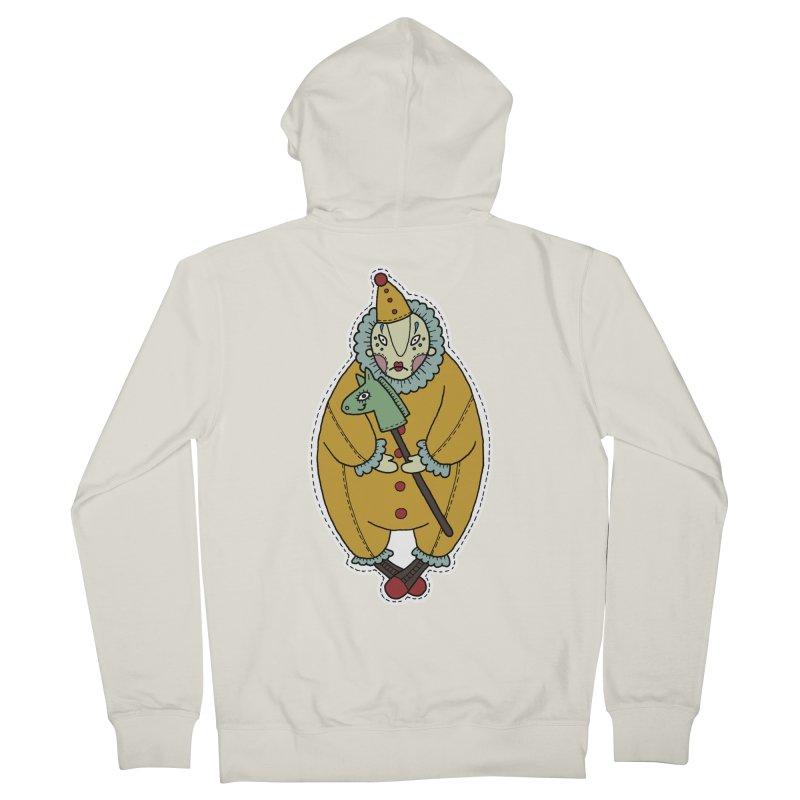 Clown Women's French Terry Zip-Up Hoody by Crazy Pangolin's Artist Shop