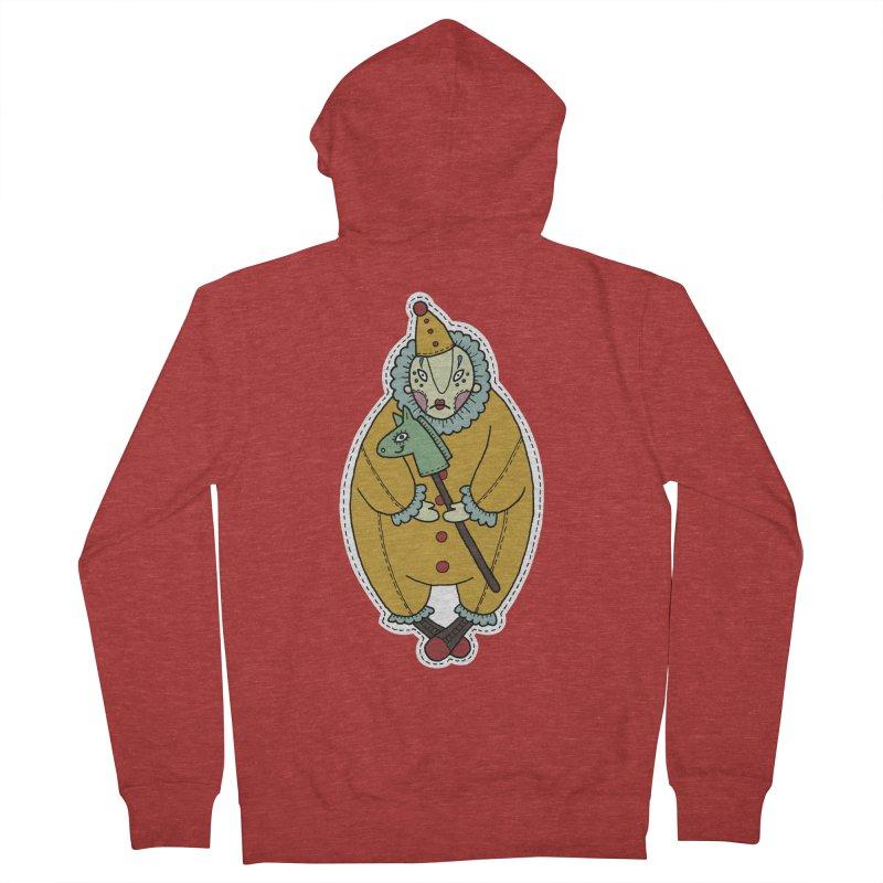 Clown Men's Zip-Up Hoody by Crazy Pangolin's Artist Shop