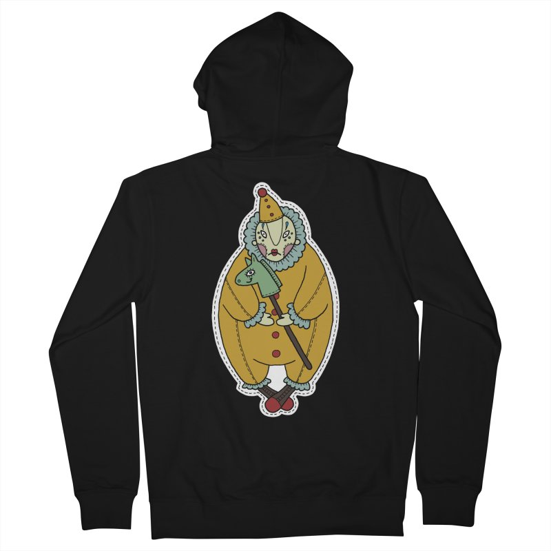 Clown Men's French Terry Zip-Up Hoody by Crazy Pangolin's Artist Shop
