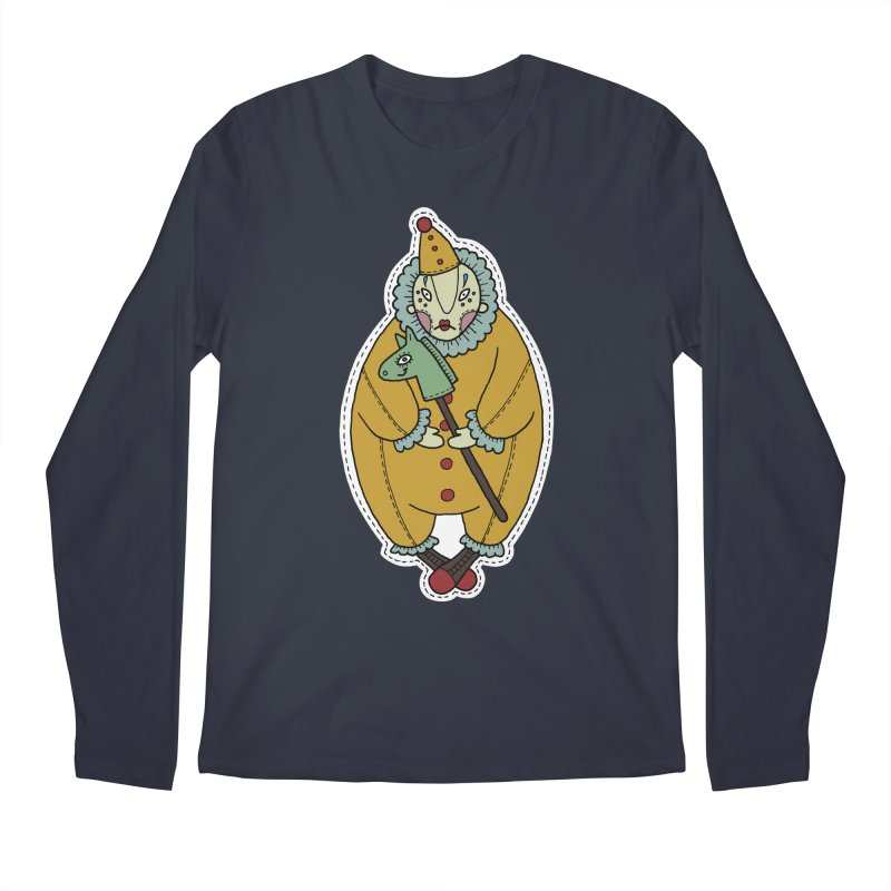 Clown Men's Regular Longsleeve T-Shirt by Crazy Pangolin's Artist Shop