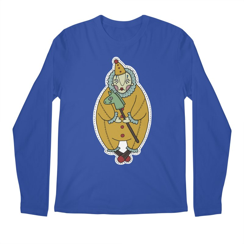 Clown Men's Longsleeve T-Shirt by Crazy Pangolin's Artist Shop