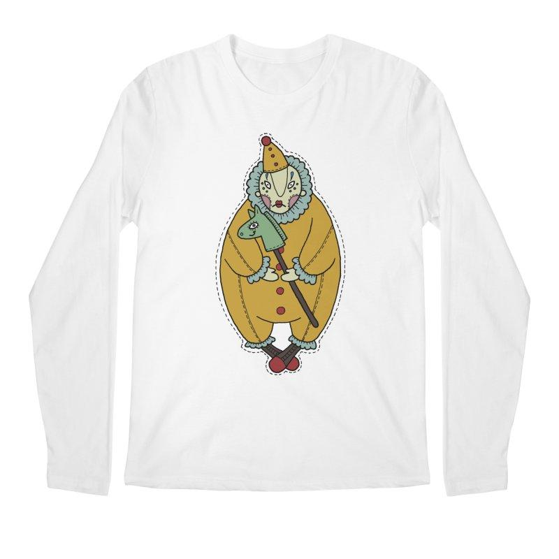 Clown Men's Regular Longsleeve T-Shirt by Crazy Pangolin's Artist Shop