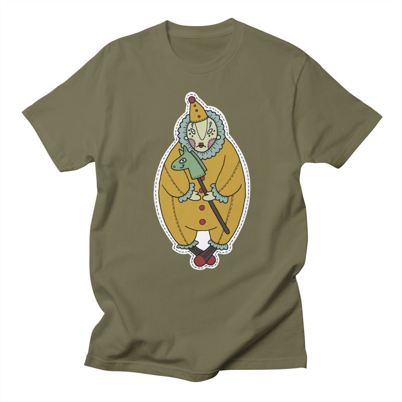 Clown Men's Regular T-Shirt by Crazy Pangolin's Artist Shop