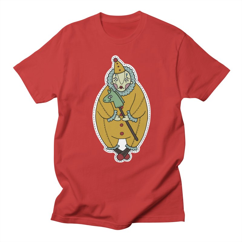 Clown Men's T-Shirt by Crazy Pangolin's Artist Shop