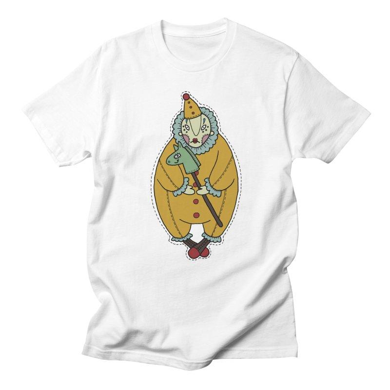 Clown Men's Regular T-Shirt by Crazy Pangolin's Artist Shop