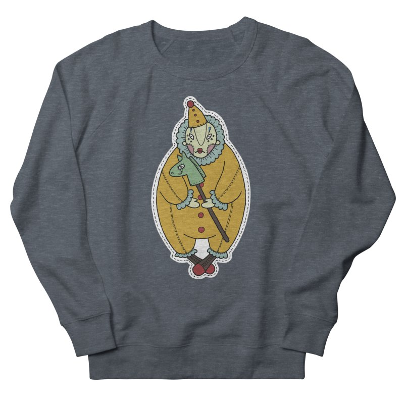 Clown Men's French Terry Sweatshirt by Crazy Pangolin's Artist Shop