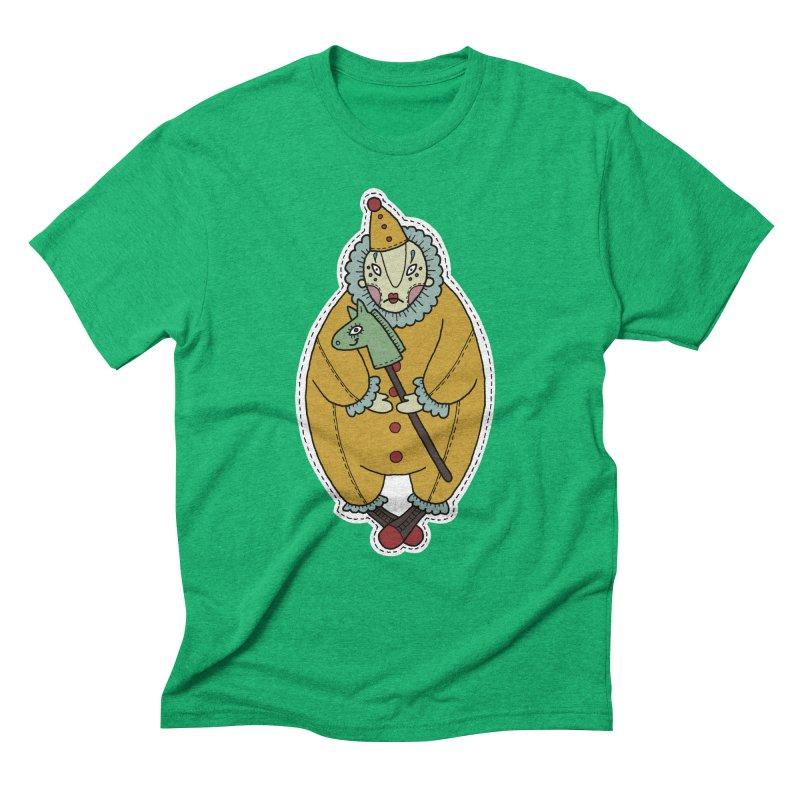 Clown Men's Triblend T-Shirt by Crazy Pangolin's Artist Shop