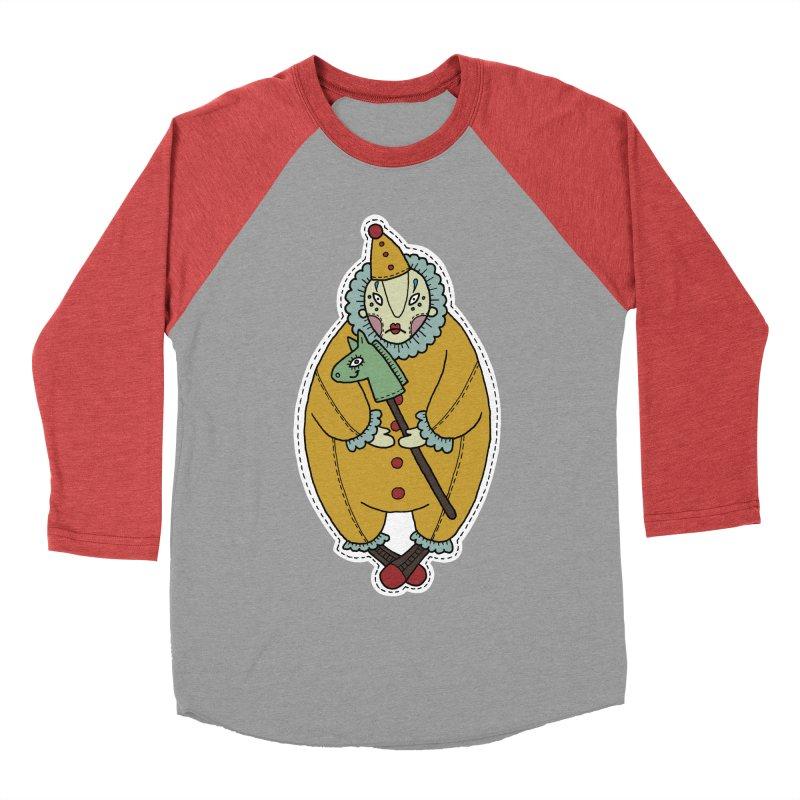 Clown Men's Baseball Triblend Longsleeve T-Shirt by Crazy Pangolin's Artist Shop