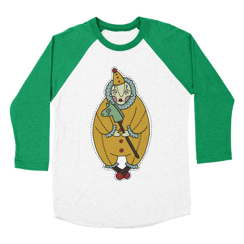 Clown Men's Baseball Triblend Longsleeve T-Shirt by Crazy Pangolin's Artist Shop