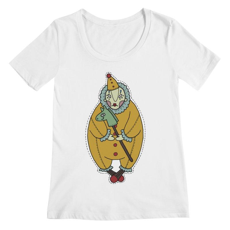 Clown Women's Regular Scoop Neck by Crazy Pangolin's Artist Shop